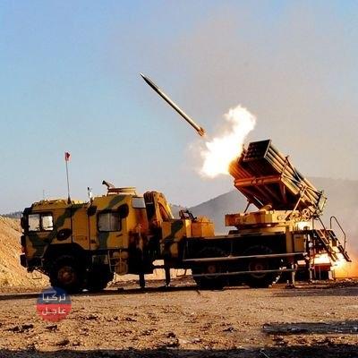 شاهد.. منظومات الصواريخ التركية تطلق النار نحو مواقع الجيش السوري